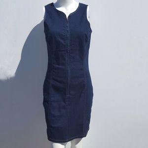 Venus | Dark Denim Stretch Jean Tank Dress size 8